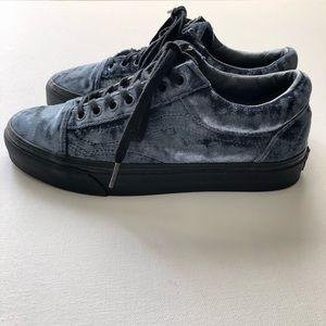 Vans Old Skool Velvet Grey & Black Shoes